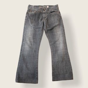 Guess Men's Grey Jeans with Button Pocket - Sz 32